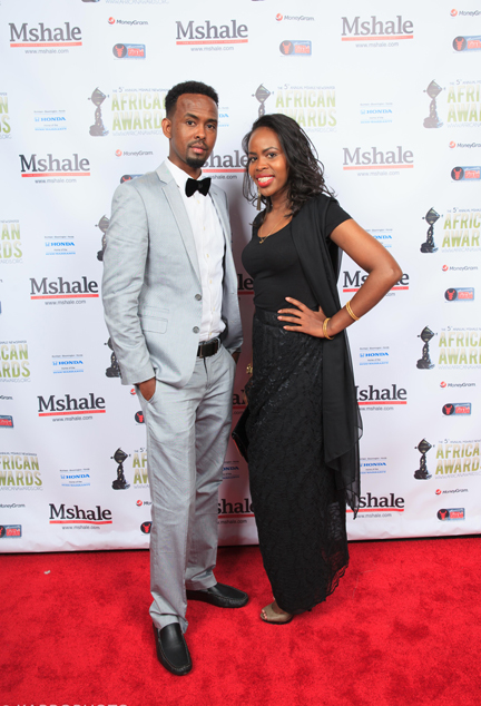 Couple at African Awards Red Carpet