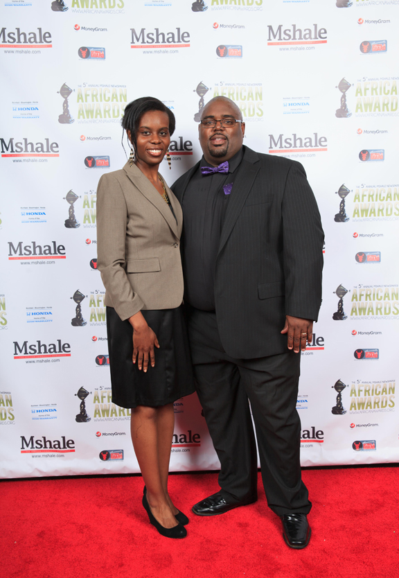 Couple Arrives at Red Carpet