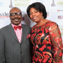 One Couple at African Awards Red Carpet