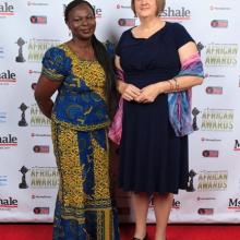 Ladies at African Awards Red Carpet