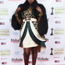 Hilda Mauya on the African Awards Red Carpet