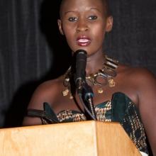 Hilda Mauya Speaking at African Awards