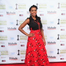 Kari Mugo at red Carpet