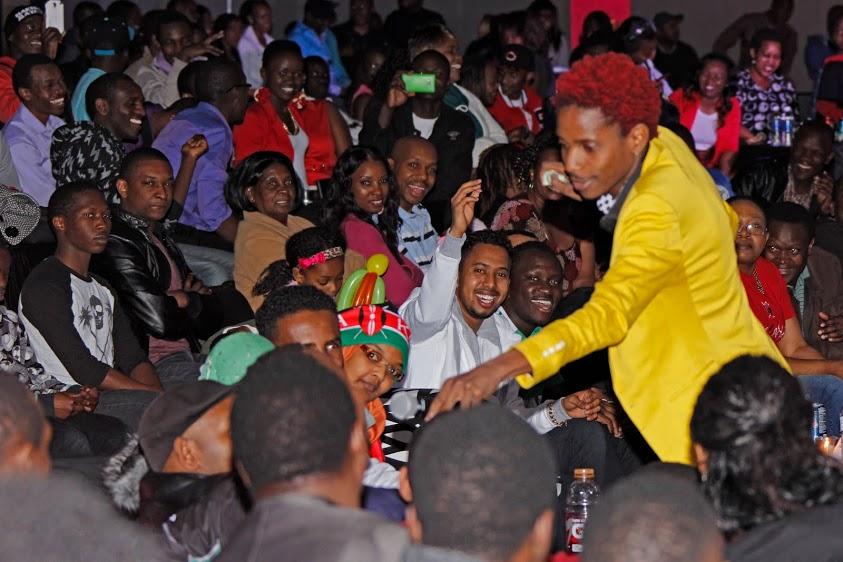 Omondi with Crowd
