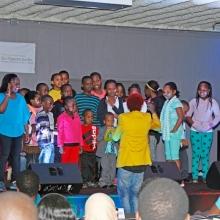 Omondi with Youth