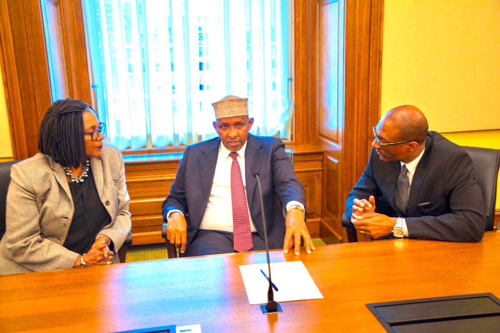 Hon. Aden Duale Meets With Rep. Rena Moran and Senator Bobby Jo Champion