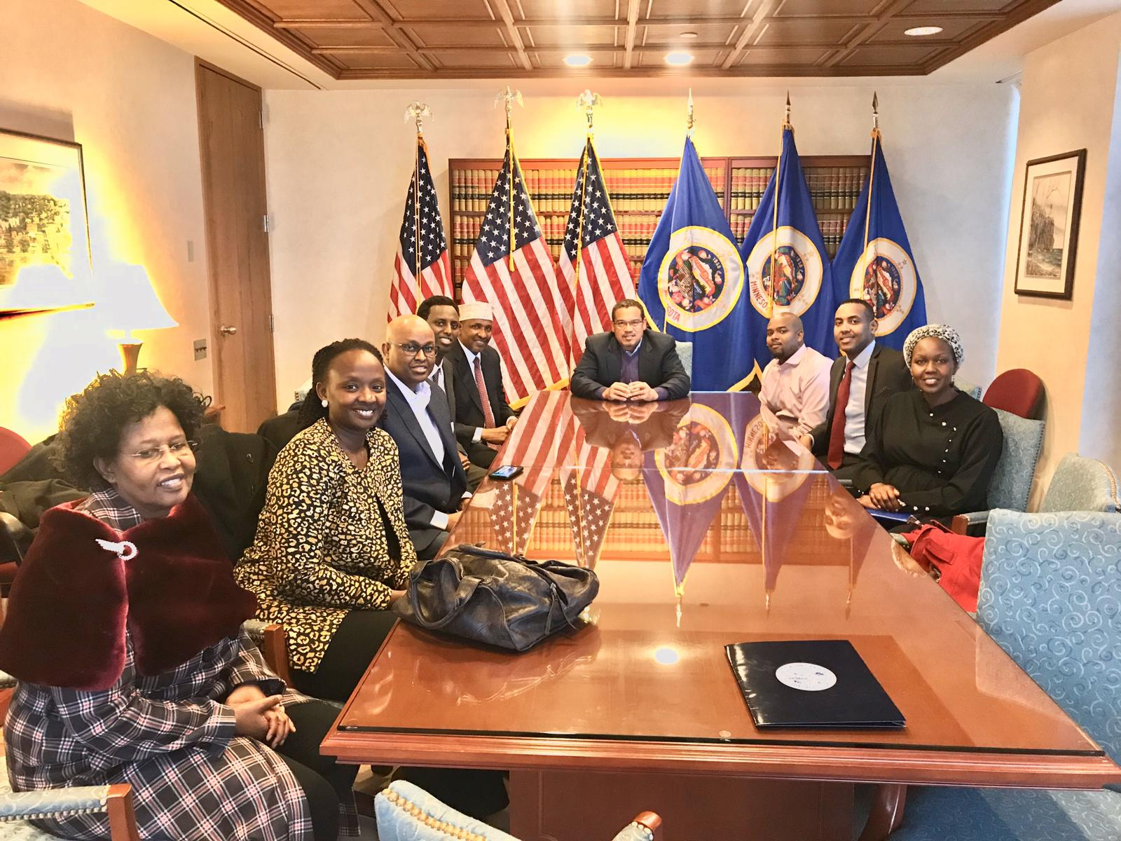 Hon. Aden Duale Meets With Minnesota Attorney General Keith Ellison