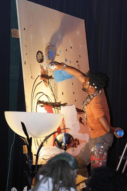 Visual Artist at Seun Kuti Concert in Minneapolis