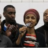 Rep. Ilhan Omar leads community leaders in denouncing Trump executive order on immigration