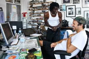 Mr. Nabay with Luaka Bop's Eric Welles. Photo: Wall Street Journal