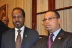 President Hassan Sheikh Mohamud and Congressman Ellison