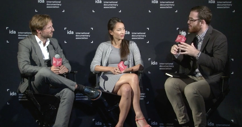 "Director Orlando von Einsiedel, producer Joanna Natasegara, and Steve Greene discuss ""Virunga"""