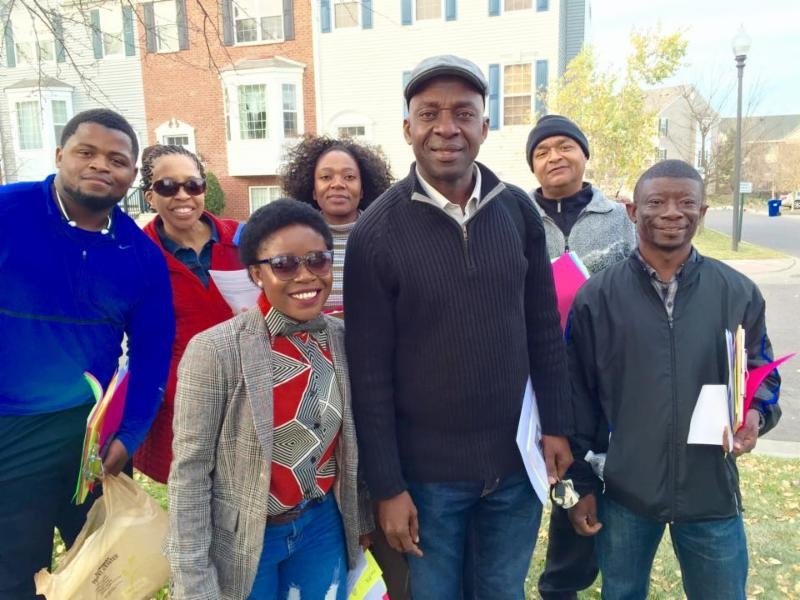 African immigrants in the northwest suburbs of the Twin Cities as they door knocked on the last weekend of this election cycle.