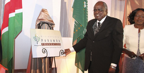 President Hifikepunye Pohamba when he launched the Hifikepunye Pohamba Foundation on June 7, 2014. He has won the Mo Ibrahim leadership prize after the prize went unawarded since 2011 for lack of suitable candidates. Photo: Office of the President Namibia