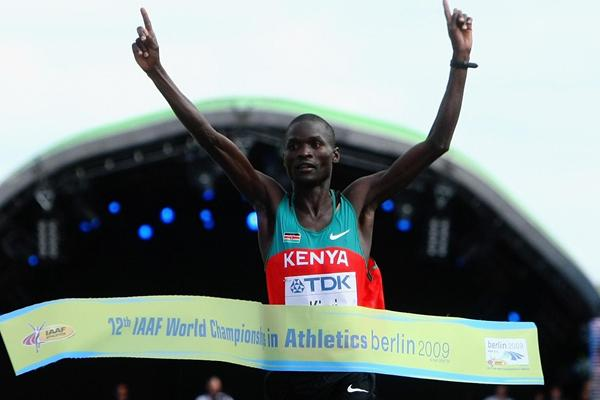 Two time World Marathon Champion, Abel Kirui will hold a running clinic in Minnesota with fellow Kenyan Wilson Kipsang,  winner of the New York, Berlin and London Marathons on November 7 and 8 2014, a few days after Kipsang runs the 2015 New York Marathon on November 1. The clinic is being hosted by Minneapolis based Warriors Edge Athletics Photo: Courtesy of  Warriors Edge Athletics