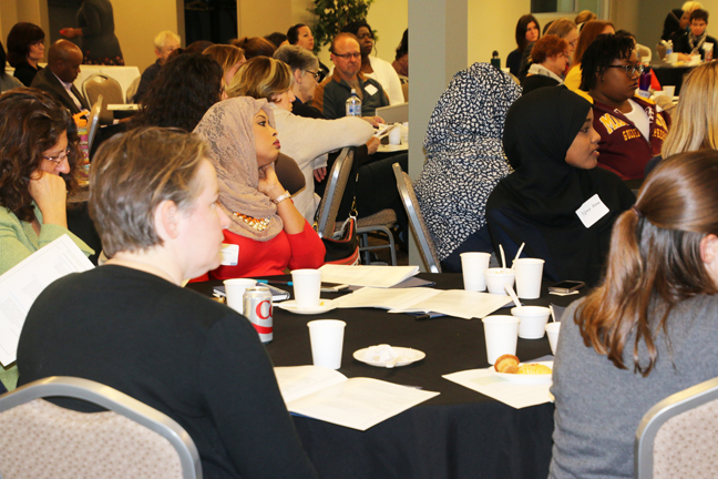 A section of the participants at the joint Somali American Parent Association and Minnesota Dept. of Health conference on the mental health of East African immigrants. Photo: Faiza Abbas Mahamud/Mshale