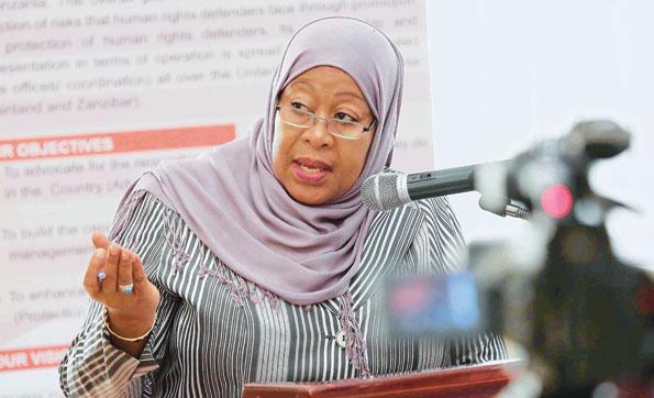 Samia Suluhu Hassan was sworn in as Tanzania's vice-president on November 5, 2015. Wither her election, she became the country's first ever female vice president. Photo: Courtesy of Samia Suluhu Hassan