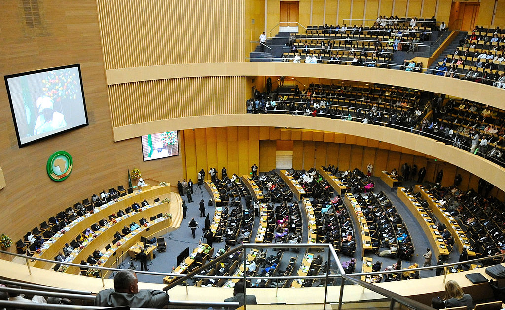African leaders, seen here during the AU's 50th anniversary in 2013 at the organization's headquarters in Addis Ababa,  will be pressing for a permanent UN seat during 26th ordinary session this week. Photo: AU