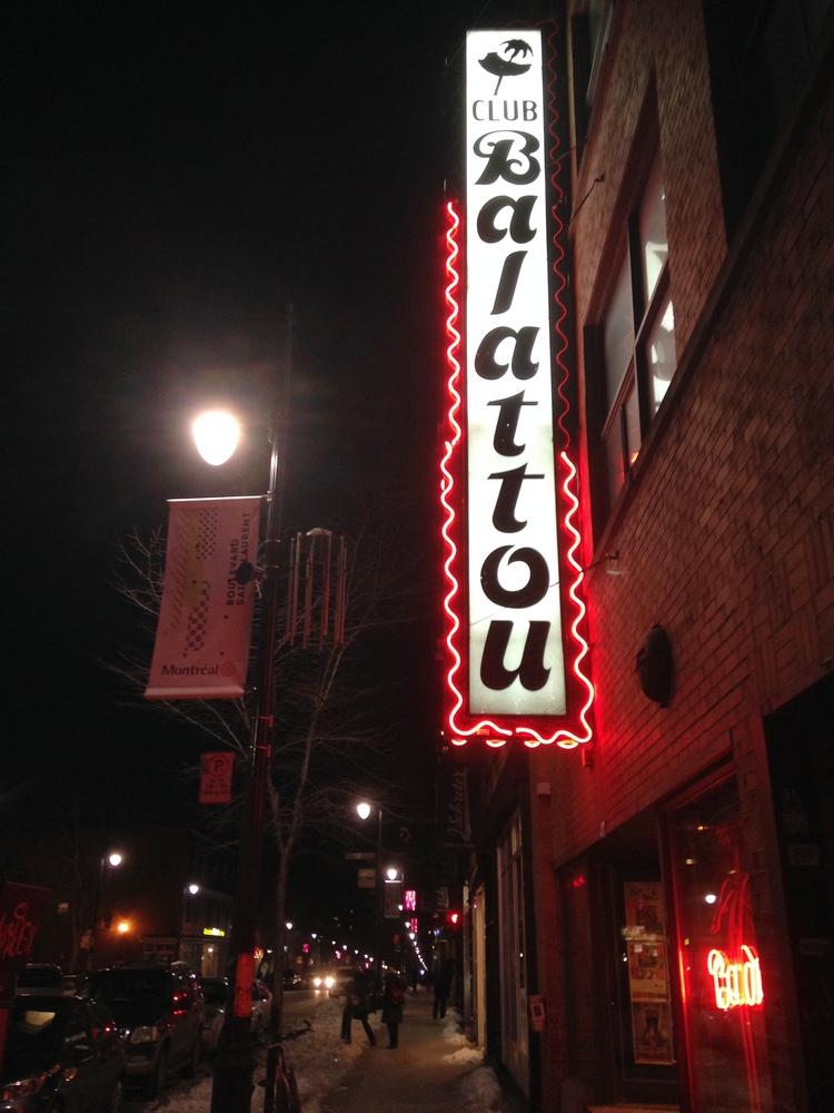 Club Balattou sits on a bustling block on St. Laurent. Photo: David Sommerstein/NCPR
