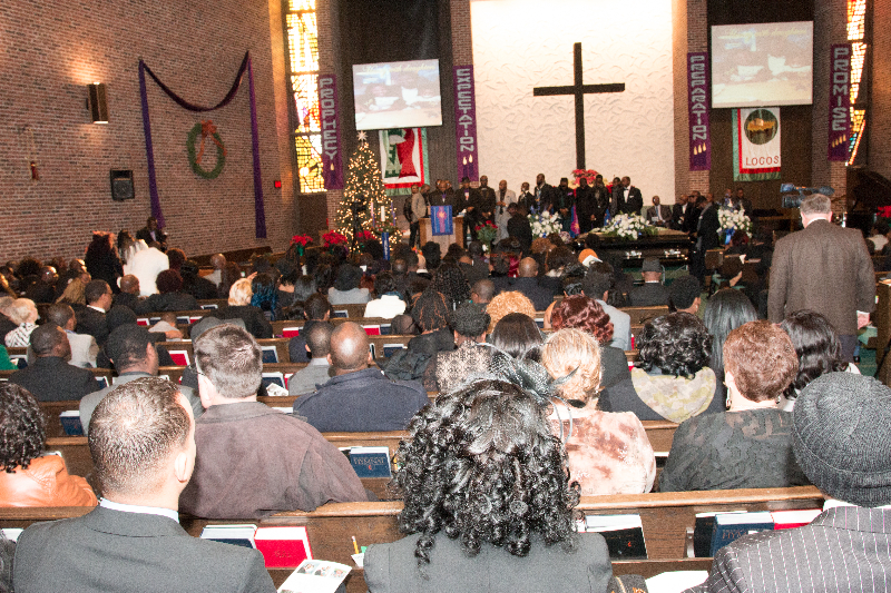 A cross section of the mourners at the funeral of the late Henry McCabe at the Brooklyn United Methodist Church in Brooklyn Center, Minnesota on December 19, 2015. The late McCabe's body was discovered at Rush Lake on November 2, 2015 after missing for almost a month. Photo: Courtesy of Liberian Brothers and Sisters Keepers Organization (LIBASKO)
