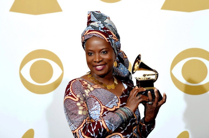 Angelique Kidjo at the 57th Grammy Awards in February 2015 where she won a Grammy for her Eve album. Photo: Courtesy Angelique Kidjo