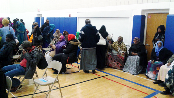 Somali-Americans at the Brian Coyle Center await caucus results during a Democratic party caucus on March 1, 2016. Photo: Tom Gitaa/Mshale