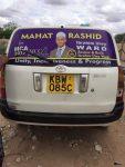 Mahat Rashid Campiagn Poster on Van via FaceBook