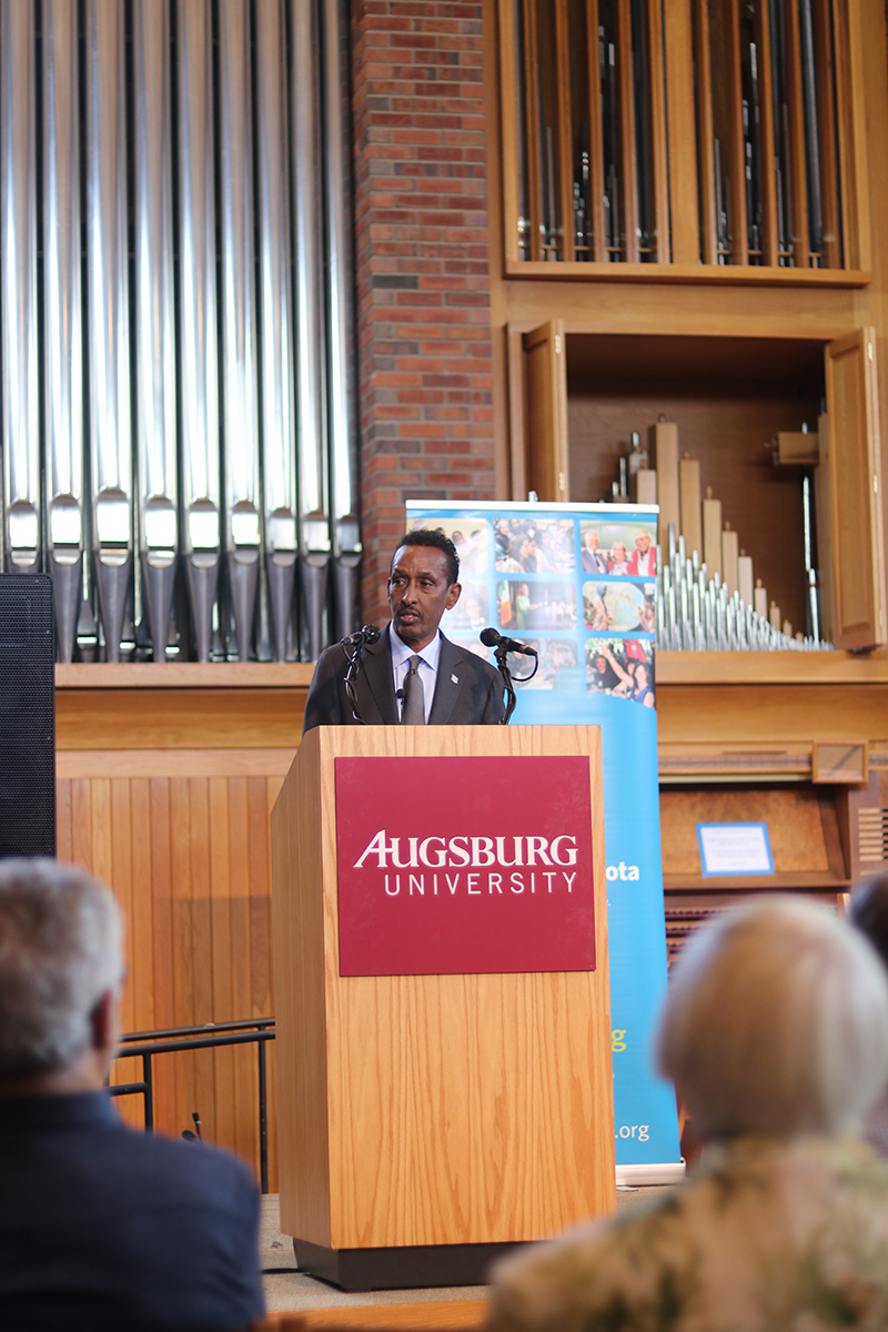Somalia's Minister of Foreign Affairs and International Cooperation, Ahmed Isse Awad in Minneapolis