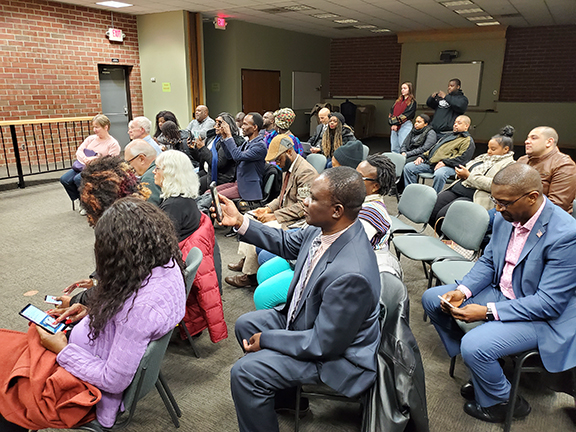 Crowd at Falcon Heights City Council