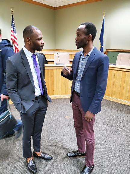 Yakasah Wehyee and Ian Oundo
