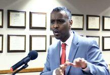 Abdi Warsame Addresing MPHA Board