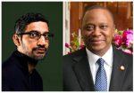 Uhuru Kenyatta and Sundar Pichai 4